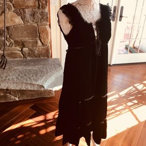 Vintage velvet bohemian GORGEOUS dress
